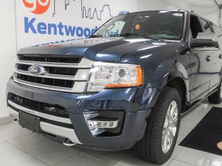 Used 2015 Ford Expedition Max Platinum 3.5L V6 ecoboost- NAV, sunroof, leather heated/cooled power seats and back up cam for sale in Edmonton, AB