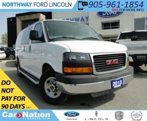 Used 2015 GMC Savana 2500 LOW KM | GREAT FOR A BUSINESS | for sale in Brantford, ON