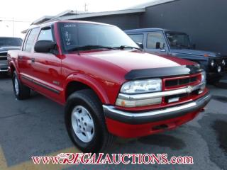 Used 2002 Chevrolet S10 LS CREW CAB 4WD for sale in Calgary, AB