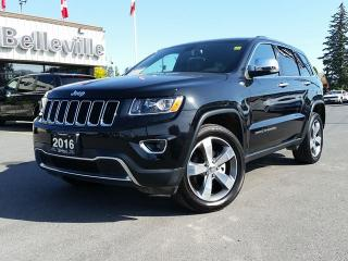 Used 2016 Jeep Grand Cherokee Limited-Sunroof-Power Liftgate-Remote Start for sale in Belleville, ON