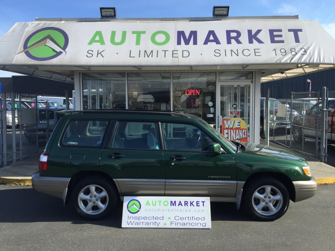 Used 2002 subaru forester auto a w d finance all credit for Subaru motors finance address