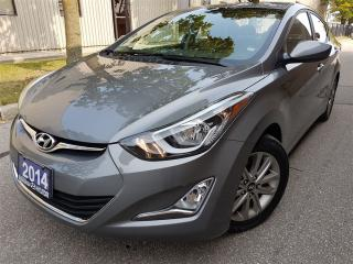 Used 2014 Hyundai Elantra GLS-leather-sunroof-rear camera for sale in Mississauga, ON