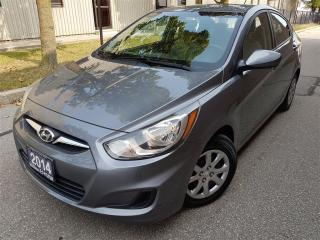 Used 2014 Hyundai Accent GL-Bluetooth-Super Clean-Certified for sale in Mississauga, ON