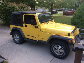 Used 2002 Jeep TJ As is. Great driving jeep for sale in Corunna, ON