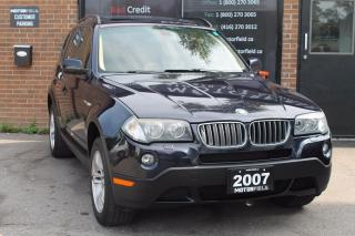 Used 2007 BMW X3 3.0i *EXCELLENT SHAPE, PANO ROOF, CERTIFIED* for sale in Scarborough, ON
