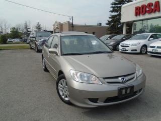 Used 2005 Honda Civic LX-G SUNROOF ALLOY WHEELS  E-TEST SAFETY for sale in Oakville, ON