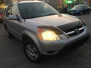 Used 2004 Honda CR-V EX-L ACCIDENT FREE_LEATHER_SUNROOF for sale in Oakville, ON