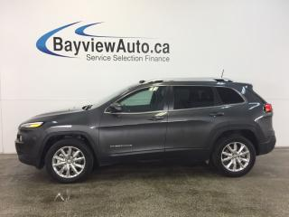 Used 2016 Jeep Cherokee LTD- 4x4! PANOROOF! REM START! NAV! REV CAM! for sale in Belleville, ON