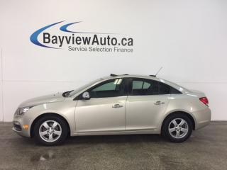 Used 2015 Chevrolet Cruze LT- TURBO! REM STRT! ROOF! LTHR! REV CAM! PIONEER! for sale in Belleville, ON