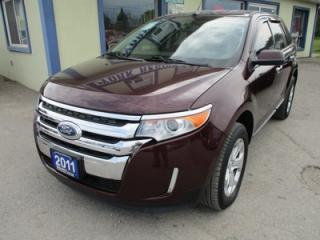 Used 2011 Ford Edge LOADED SEL MODEL 5 PASSENGER 3.5L - V6.. AWD.. LEATHER.. HEATED SEATS.. POWER FOLDING SEATS.. KEYLESS ENTRY.. for sale in Bradford, ON