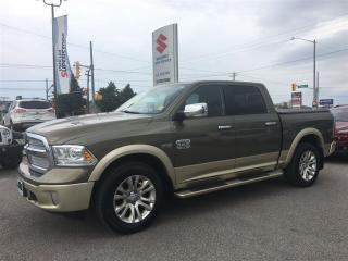 Used 2013 Dodge Ram 1500 Longhorn Crew 4X4 ~Nav ~RearView Camera for sale in Barrie, ON