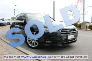 Used 2013 Audi A4 *SOLD* quattro Premium w/ Rear Comfort Package for sale in Whitby, ON