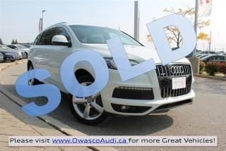 Used 2013 Audi Q7 *SOLD* quattro Premium w/ S-line Sport Package for sale in Whitby, ON