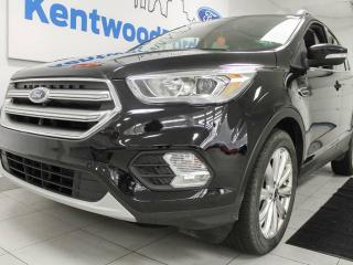 Used 2017 Ford Escape Titanium 4WD ecoboost, NAV, twin panel moonroof, heated seats and power liftgate for sale in Edmonton, AB