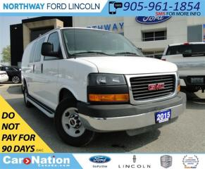 Used 2015 GMC Savana 2500 LOW KM | V-8 | GREAT FOR BUSINESS | for sale in Brantford, ON