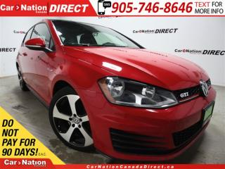 Used 2015 Volkswagen Golf GTI 3-Door Autobahn| SUNROOF| PUSH START| for sale in Burlington, ON