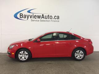 Used 2015 Chevrolet Cruze LT- TURBO! REM STRT! A/C! REV CAM! CRUISE! MYLINK! for sale in Belleville, ON