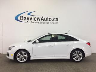 Used 2015 Chevrolet Cruze RS- 6 SPD! TURBO! ROOF! HTD LTHR! NAV! REV CAM! for sale in Belleville, ON