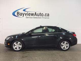 Used 2015 Chevrolet Cruze - TURBO DIESEL! REM STRT! ROOF! HTD LTHR! NAV! for sale in Belleville, ON