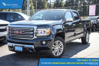 New 2018 GMC Canyon SLT Satellite Radio and Backup Camera for sale in Port Coquitlam, BC
