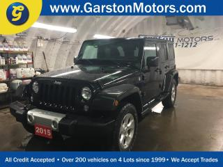 Used 2015 Jeep Wrangler UNLIMITED SAHARA*NAVIGATION*4WD*U CONNECT PHONE*REMOVABLE HARD TOP ROOF*KEYLESS w/REMOTE START* for sale in Cambridge, ON