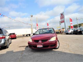 Used 2004 Mitsubishi Lancer AUTO 4DR GAS SAVER PW PM  A/C SAFETY for sale in Oakville, ON