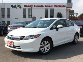 Used 2012 Honda Civic LX  - Bluetooth -  Key-less - New Tires for sale in Mississauga, ON