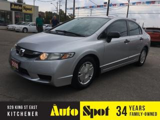 Used 2009 Honda Civic DX-G/RECENT TRADE/PRICED FOR A QUICK SALE ! for sale in Kitchener, ON