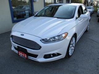 Used 2013 Ford Fusion LOADED TITANIUM MODEL 5 PASSENGER 2.0L - ECO-BOOST.. AWD.. LEATHER.. HEATED SEATS.. SUNROOF.. NAVIGATION.. BACK-UP CAMERA.. for sale in Bradford, ON