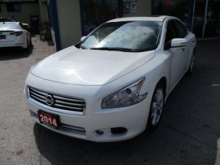 Used 2014 Nissan Maxima LOADED 'S-TYPE' 5 PASSENGER 3.5L - V6.. LEATHER.. HEATED SEATS.. POWER SUNROOF.. BACK-UP CAMERA.. CD/AUX/USB INPUT.. for sale in Bradford, ON