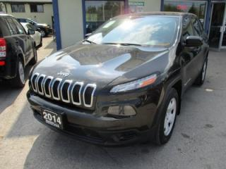 Used 2014 Jeep Cherokee POWER EQUIPPED SPORT EDITION 5 PASSENGER 2.4L - DOHC.. 4X4.. CD/AUX/USB INPUT.. SELEC-TERRAIN SHIFTING.. for sale in Bradford, ON