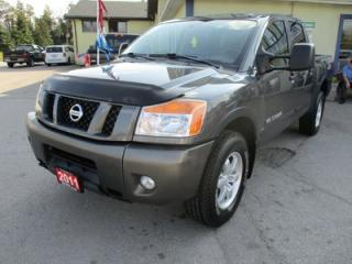 Used 2011 Nissan Titan LOADED PRO-4X EDITION 5 PASSENGER 5.6L - V8.. 4X4.. CREW.. SHORTY.. LEATHER.. HEATED SEATS.. SUNROOF.. POWER REAR WINDOW.. for sale in Bradford, ON