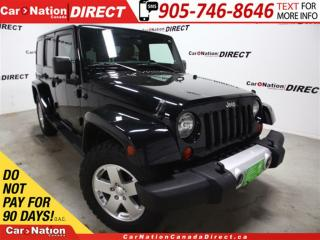 Used 2011 Jeep Wrangler Unlimited Sahara| 4X4| LEATHER| HEATED SEATS| HARD TOP| for sale in Burlington, ON