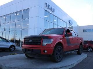 Used 2014 Ford F-150 FX4, 402A, ACCIDENT FREE, SYNC, NAV, REAR CAMERA, BEDLINER, POWER MOONROOF, TAILGATE STEP, LTHR, 4X4 for sale in Edmonton, AB