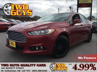 Used 2014 Ford Fusion SE LEATHER MOON ROOF BACK UP CAMERA for sale in St Catharines, ON