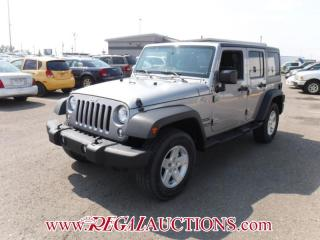 Used 2015 Jeep WRANGLER UNLIMITED SPORT 4D UTILITY 4WD for sale in Calgary, AB