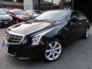 Used 2014 Cadillac ATS 2.0L Turbo-PRM-PKG-BLACK-ON-BLACK for sale in Scarborough, ON