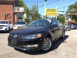 Used 2013 Volkswagen Passat Highline,Leather,Sunroof,Push2Start&Warranty* for sale in York, ON