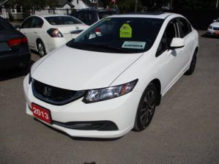 Used 2013 Honda Civic SPORTY LX MODEL 5 PASSENGER 1.8L - 4 CYL.. FWD.. CLOTH.. POWER SUNROOF.. HEATED SEATS.. for sale in Bradford, ON