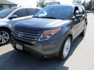 Used 2015 Ford Explorer LOADED LIMITED EDITION 7 PASSENGER 3.5L - V6.. 4WD.. BENCH & 3RD ROW.. LEATHER.. NAVIGATION.. BACK-UP CAMERA.. DUAL SUNROOF.. for sale in Bradford, ON