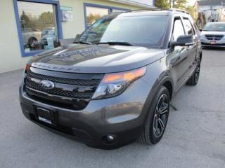 Used 2015 Ford Explorer LOADED SPORT EDITION 6 PASSENGER 3.5L - ECO-BOOST.. 4WD.. CAPTAINS & 3RD ROW.. LEATHER.. NAVIGATION.. DUAL SUNROOF.. BACK-UP CAMERA.. for sale in Bradford, ON