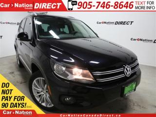 Used 2014 Volkswagen Tiguan Highline| AWD| LEATHER| PANO ROOF| NAVI| for sale in Burlington, ON