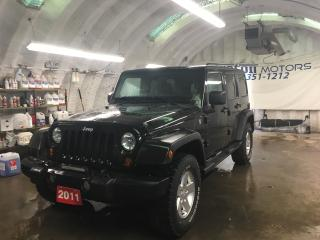 Used 2011 Jeep Wrangler UNLIMITED*ALLOYS*AM/FM/XM/CD/AUX*TRACTION CONTROL*FOG LIGHTS*REMOVABLE HARD/SOFT TOP*U CONNECT PHONE* for sale in Cambridge, ON