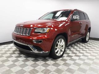 Used 2014 Jeep Grand Cherokee Summit 5.7L HEMI - Local One Owner Trade In | No Accidents | Navigation | Back Up Camera | Parking Sensors | Power Sunroof | Power Liftgate | 20 Inch Wheels | Collision Avoidance | Adaptive Cruise Control | Blind Spot Monitor | Heated/Cooled Front Seats | for sale in Edmonton, AB