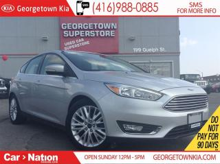 Used 2015 Ford Focus Titanium| LEATHER| SUNROOF| B/U CAM|CLEAN CARPROOF for sale in Georgetown, ON