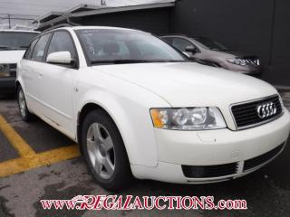 Used 2004 Audi A4  4D WAGON FTRAK 1.8T for sale in Calgary, AB