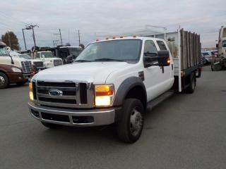 Used 2009 Ford F-550 Flat Deck Diesel Crew Cab 2WD Dually W/ Power Lift Gate for sale in Burnaby, BC