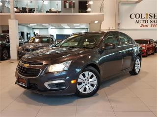 Used 2015 Chevrolet Cruze LT-AUTO-REAR CAM-BLUETOOTH-ONLY 71KM for sale in York, ON