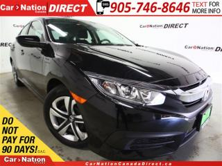 Used 2016 Honda Civic LX| TOUCH SCREEN| BACK UP CAMERA| for sale in Burlington, ON