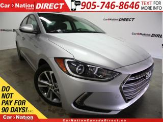 Used 2017 Hyundai Elantra Limited| LEATHER| NAVI| SUNROOF| LOW KM'S| for sale in Burlington, ON